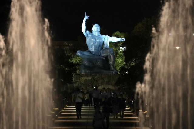 長崎市點亮冀望和平之光 和平祈禱像點燈活動開跑
