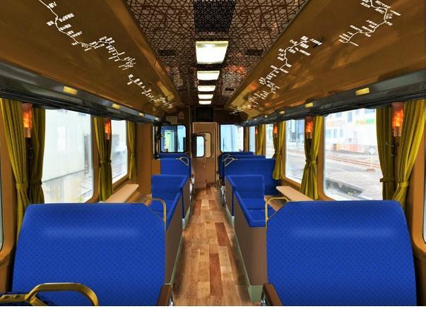 秋田內陸線推出新觀光列車 舒適車窗飽覽景致明年2月上路