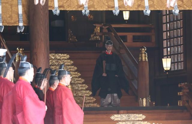 明治神宮「正殿遷座祭」 供品獻舞恭迎神體回歸正殿