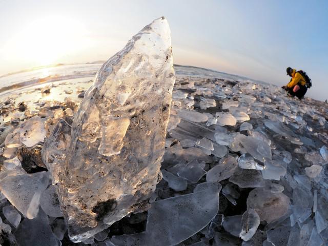北海道‧豐頃町大津海岸 「珠寶冰」閃耀迎接最佳觀賞期