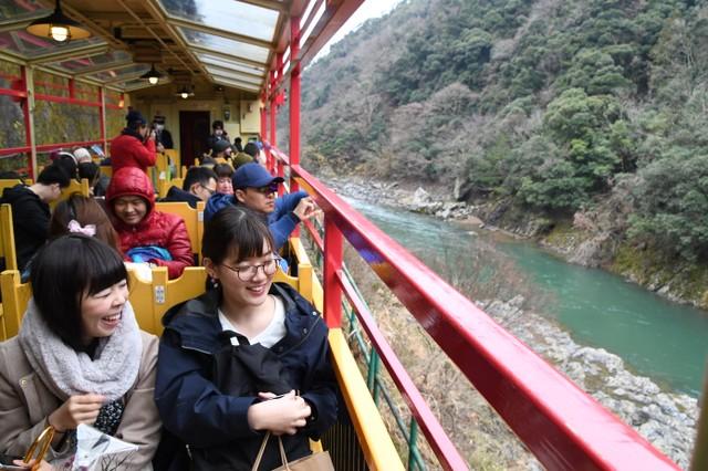 穿梭京都‧保津峽的遊覽小火車 寒假結束上路囉
