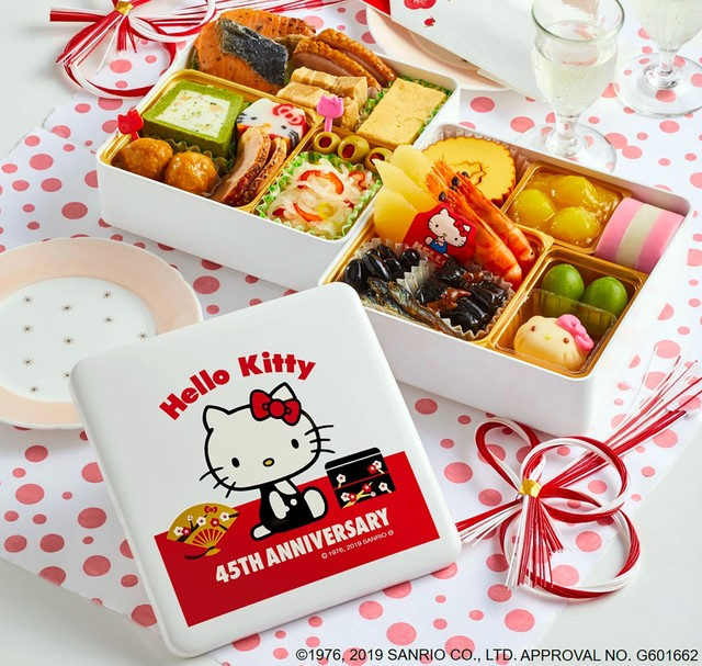 Hello Kitty誕生45週年 紀文食品推出限定年菜同賀新年
