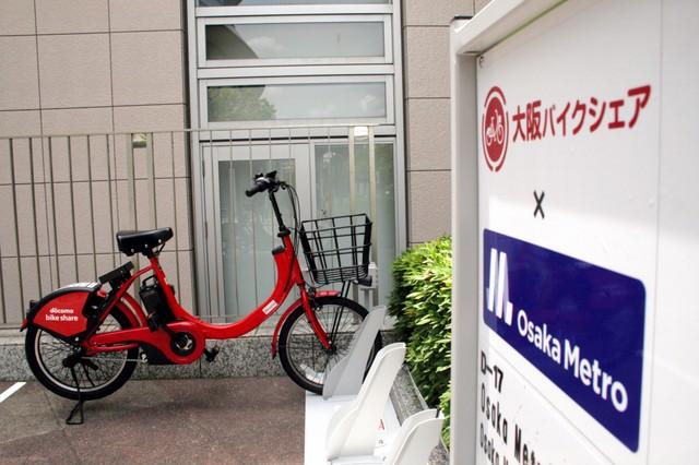 大阪地鐵推車站周邊租借自行車服務 透過IC卡簡易付費使用