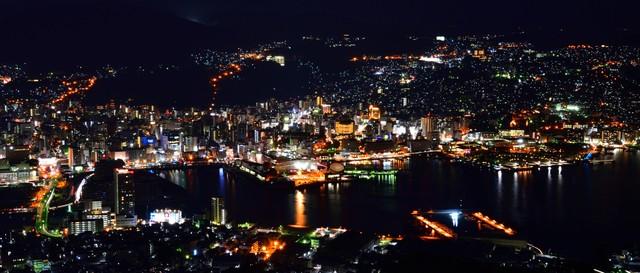 搭乘爬坡車360度賞美景 將長崎市區及軍艦島盡收眼底