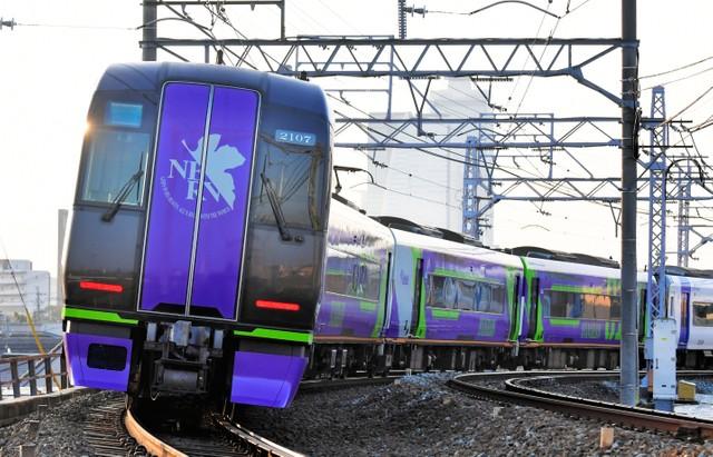 名鐵快速列車「μ-SKY」 化身EVA初號機限期上路