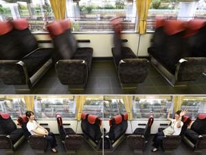 咚咚咚!座位瞬間轉向 京阪電車對乘客的真心款待(影片)