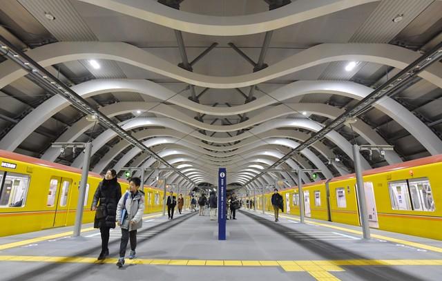 東京Metro銀座線澀谷站新站舍啟用 月台寬幅增加2倍