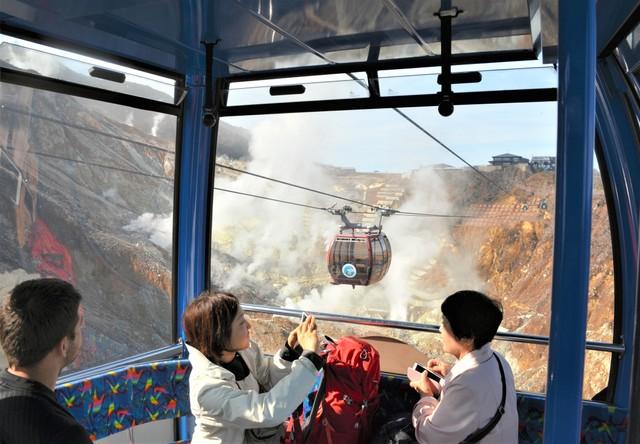 箱根空中纜車重啟行駛 遊客再享空中俯瞰大涌谷體驗