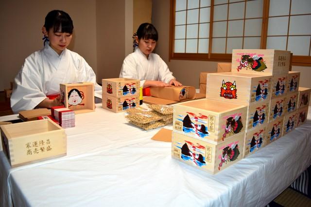 三重‧二見興玉神社「福盒」製作中 為節分撒豆驅鬼作準備