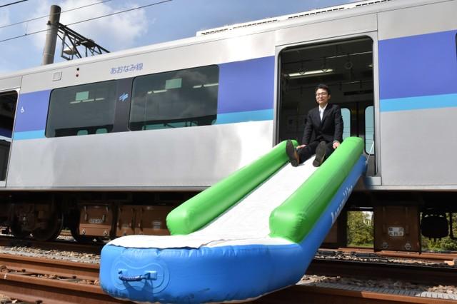 電車導入避難用滑梯造福年長者 靈感來自飛機逃生梯