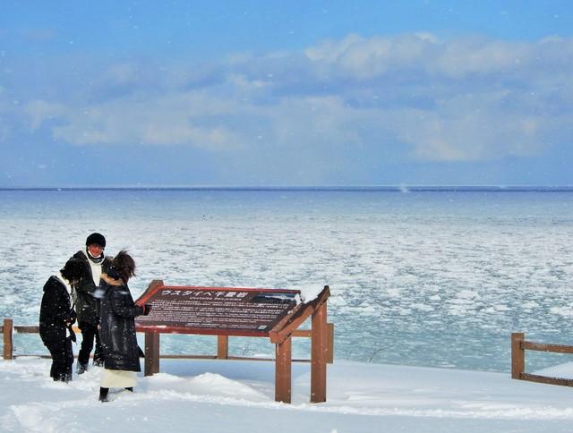 北海道枝幸町流冰終於靠岸 今年冬天南下情況延遲