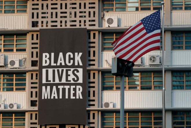US Embassy in Seoul Removes 'BLM' Banner due to Trump's Discontent