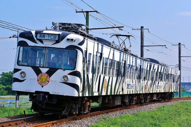 群馬‧上信電鐵白虎造型電車 「欣賞退休前最後英姿」