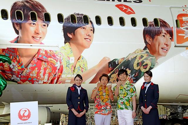 JAL推出「嵐」夏威夷彩繪機 大野智稱「是一生的紀念」