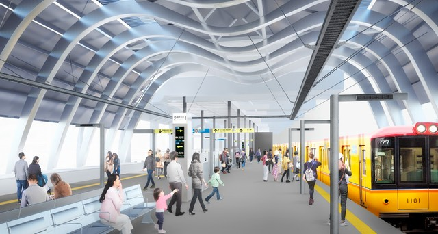 銀座線澀谷站新站舍明年1月3日啟用 M字拱形屋頂為特色