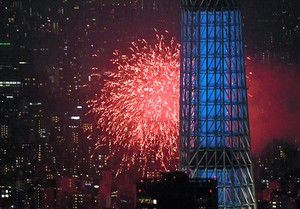 東京‧隅田川2萬發煙火閃耀夜空 順祝新年號與明年東奧(影片)