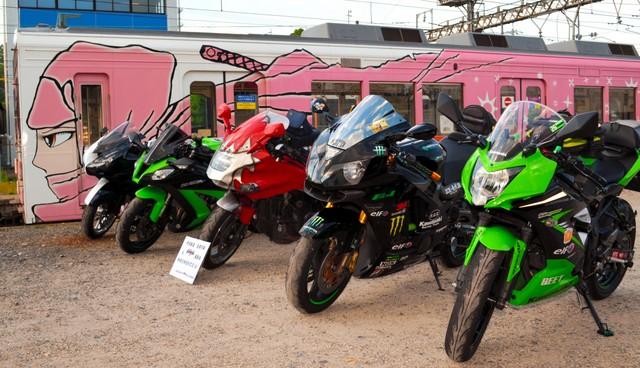 忍者列車×「Ninja」摩托車 合作攝影會夢幻登場