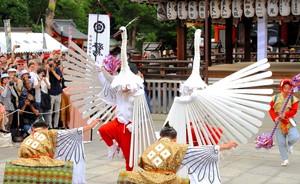 江戶時期京都失傳的「鷺舞」 自島根返鄉跨時代獻演(影片)