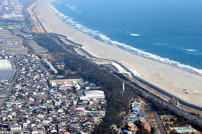 Construction Of Massive Seawall Completed In Shizuoka The Asahi Shimbun