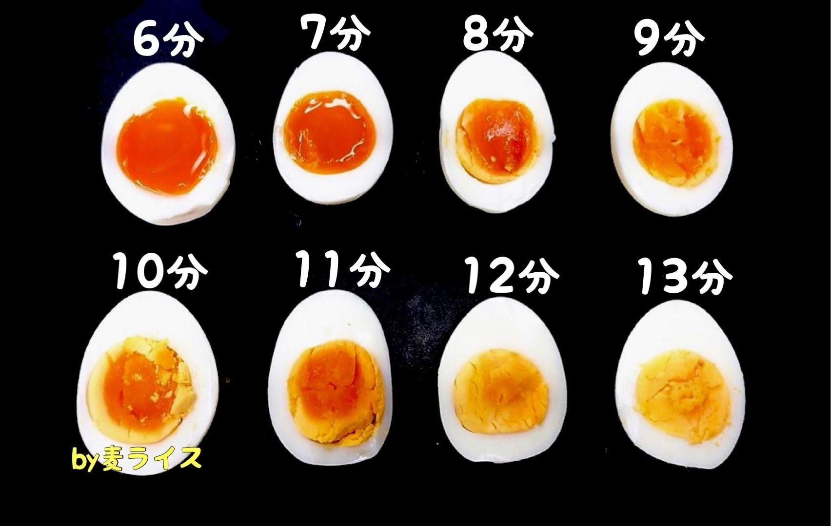 時間 半熟 卵