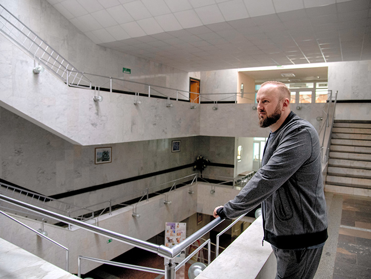 "Yury Lukashenia, who is on his sixth trip to the spa at the salt mine at the National Speleotherapy Clinic in Salihorsk, Belarus, April 12, 2019. In Belarus and across the former Soviet Union, the suggestion of a visit to the salt mines generally evokes grim memories of prison camps. Today, however, the Belarus mines have been rebranded as a health cure. ""It is much better to spend two or three weeks in a salt mine than sitting on a yacht,"