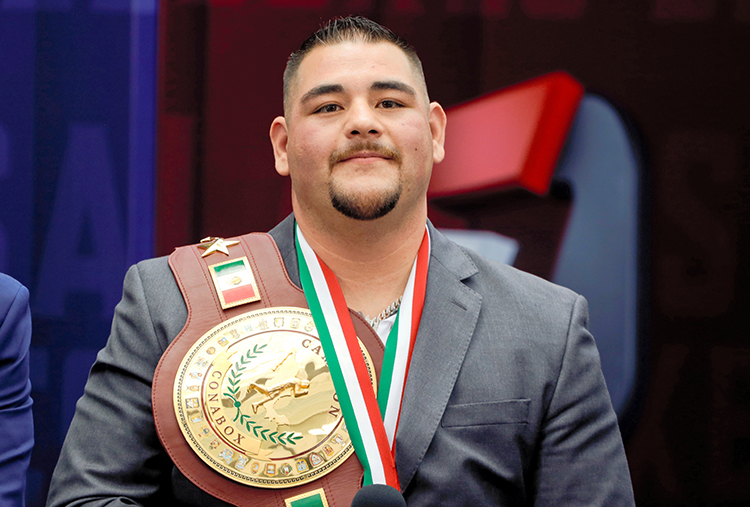 Boxing - Mexican-American heavyweight champion Andy Ruiz Jr. news conference, Mexico City, Mexico - June 11, 2019. Mexican-American heavyweight champion Andy Ruiz Jr during news conference. REUTERS/Luis Cortes