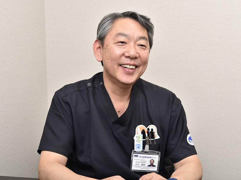 「かかりつけ獣医師と適切な栄養管理をすることが大切です」と話す吉内先生