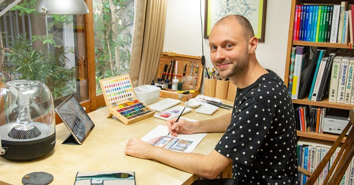 「君の名は。」背景美術を手がけたイラストレーターが描く東京の夜の日常 M・ウルバノヴィチさん「東京夜行」 好書好日
