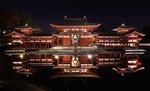 黑夜中閃耀的鳳凰堂及紅葉景致 京都·平等院點燈活動開跑