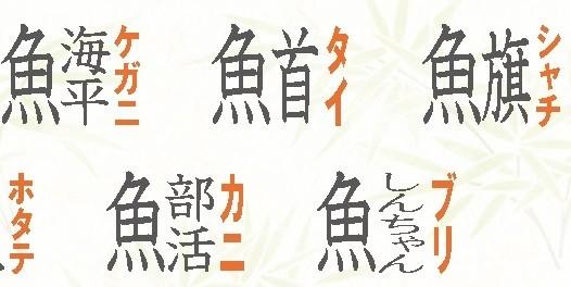漢字 一覧 魚 へん の