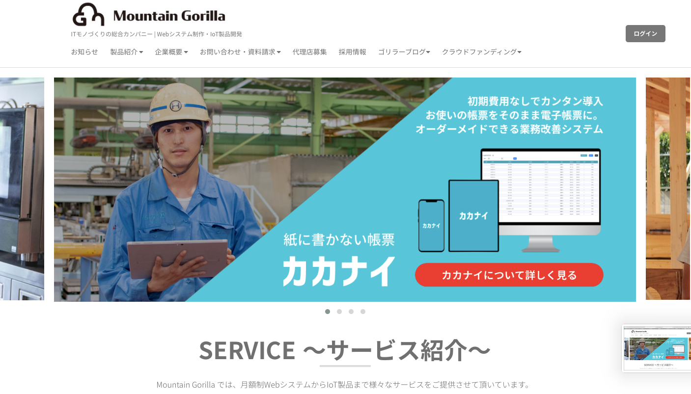 IT会社のMountain Gorilla(HPより)